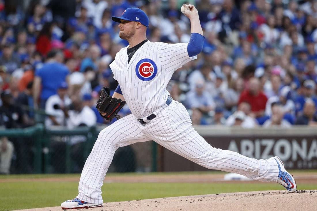 Jon Lester pitching
