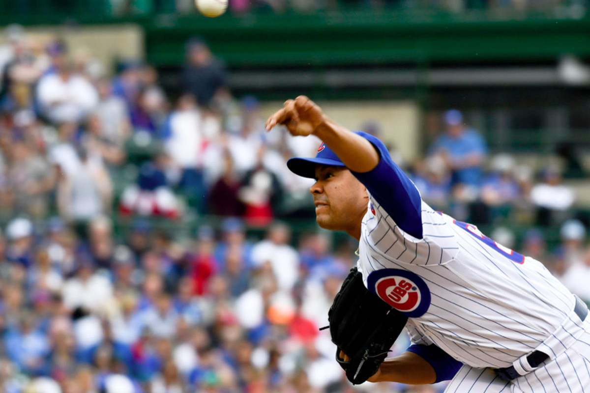 Chicago Cubs starting pitcher Jose Quintana